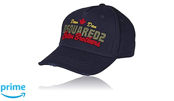 Amazon.com: DSQUARED2 Navy Baseball Cap | Genuine B-Quality Trendy Baseball Hat for Men & Women | Gorras para Hombres with Cool Embroidered Caten Brothers ...