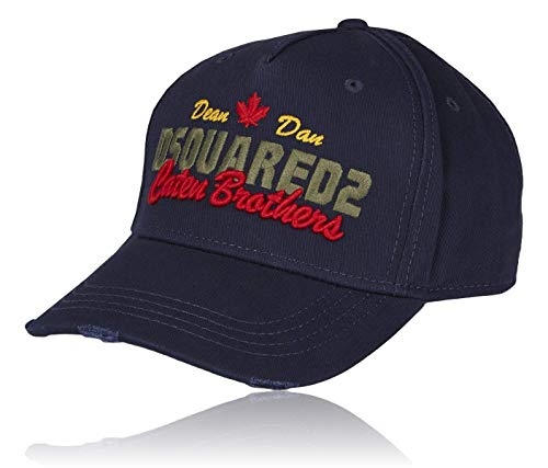 DSQUARED2 Mens Baseball Caps | Genuine B-Quality Trendy Baseball Hats for Men & Women | Blue Men Cap for Men with Caten Brothers Embroidery | Vintage Womens Baseball Hat | Unique Baseball Cap Men