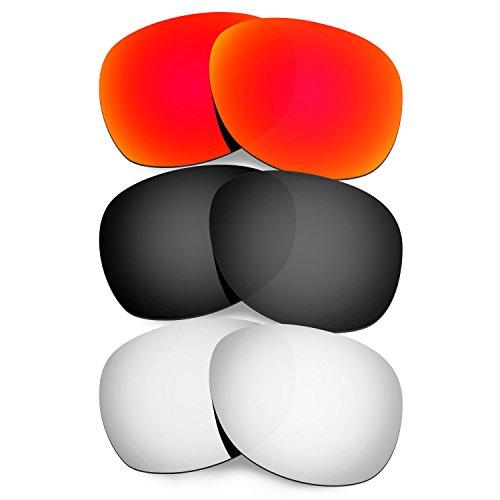 Titanium Mens Black For Sunglasses Red Lenses RB2132 Ray Wayfarer Replacement Hkuco Ban 55mm 17dwqqP