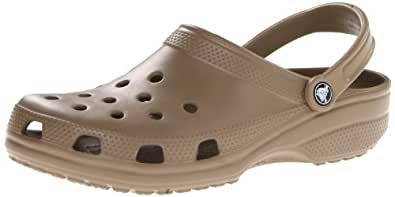 Crocs Mens Classic Khaki Ankle-High Rubber Sandal - 4M