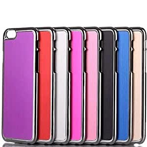 SOL Solid Color Pattern Smooth Surface Brushed Metal Hard Back Cover for iPhone 6 (Assorted Colors) , Rose