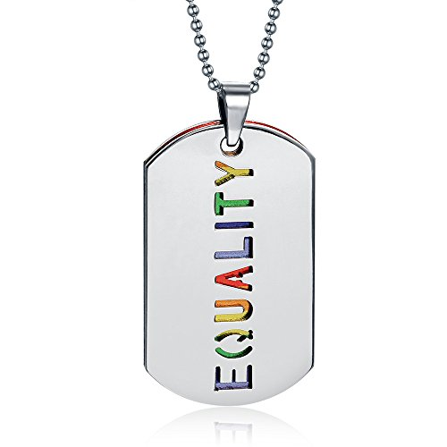 O4U Colorful Rainbow Gay Lesbian Equality for Homosexual Men LES Homosex Inscription Pendant (Best Lycan Costume)