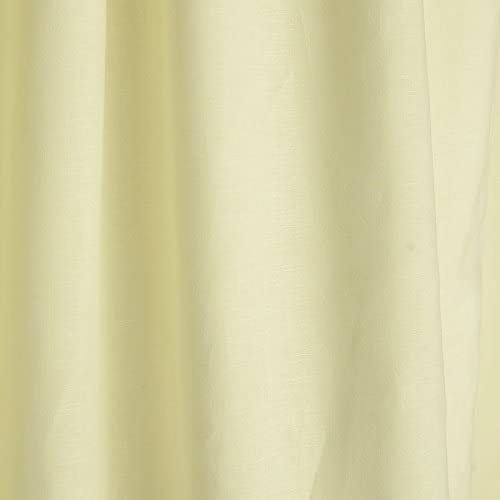 Parisian Home Style 100 Linen Drape Panel. White Curtain. Cotton Lining Window Treatment. New 42X108