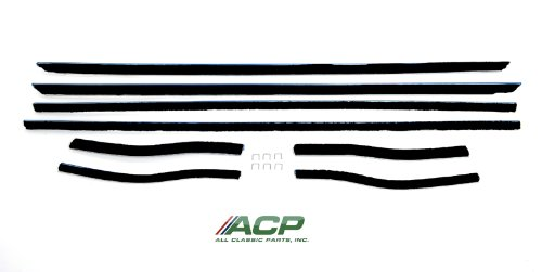 1967-1968 Mustang Window Felt Weatherstrip Kit Coupe, 8 Pieces ()