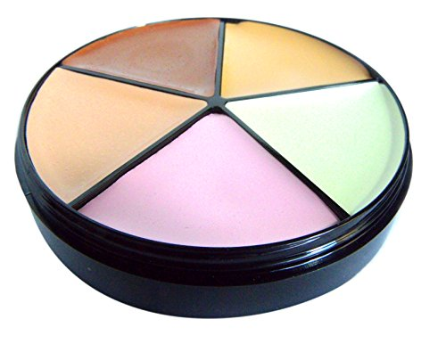 Pure Ziva Color Correcting Neutralizing 5 Shade Medium to Full Solid Matte Buildable Coverage Concealer Palette Wheel Contouring Kit, Paraben & Gluten Free, No Animal Testing & Cruelty Free