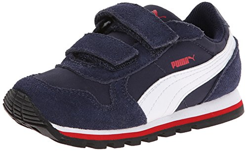 Nylon Peacoat - PUMA ST Runner NL V Kids Sneaker (Little Kid/Toddler/Little Kid) , Peacoat/White/High Risk Red, 9 M US Toddler