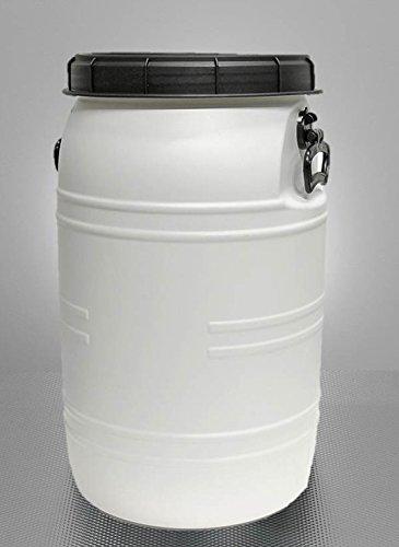 Weithals-Fass 70 Liter transparent mit Deckel Griffe Nässe-Schutz Faß Fische