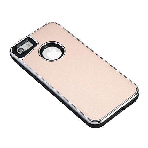 JIALUN-carcasa de telefono Caja doble extraíble del teléfono de la contraportada para IPhone 5s y SE ( Color : Blue ) Rosegold