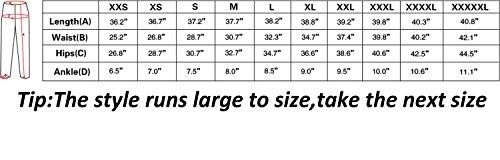 Stretchy Capri Sloth Leggings size chart