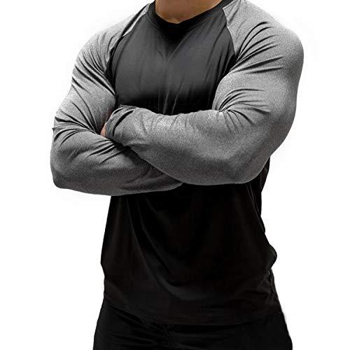 Magiftbox-Mens-Long-Sleeve-Seamless-Pullover-Sweatshirt-Lightweight-Active-Jogging-Running-Workout-Muscle-Shirts-T14