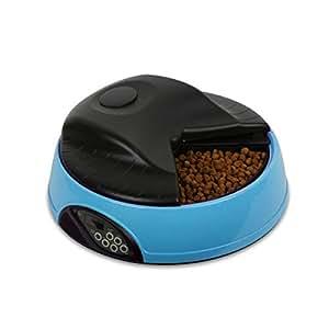 PETCUTE Alimentador automático de Mascotas, 4 porciones/día Comedero con grabadora de Voz y Temporizador programable, para Perros y Gatos: Amazon.es: Hogar