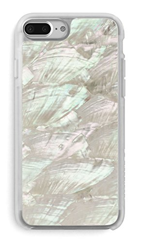 (Recover White Abalone Shell iPhone 8 Plus/iPhone 7 Plus/iPhone 6 Plus Case. Ultra Slim Protective Iridescent Seashell Cover for iPhone 8/7/6 Plus (White))