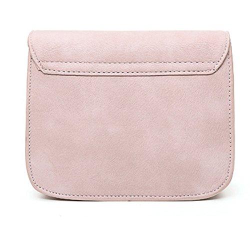 Nuevo Bolso Femenino De La Cubierta Simple Bolso Del Sobre Bolso De Hombro De Las Mujeres Pink