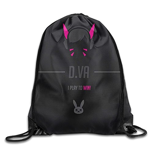 Price comparison product image Bieshabi Overwatch D.Va Drawstring Backpacks Sack Bag/Bags