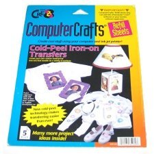 Cre8 Computer Crafts Cold Peel Iron On Transfers by Janlynn - 5 Refill Sheets -