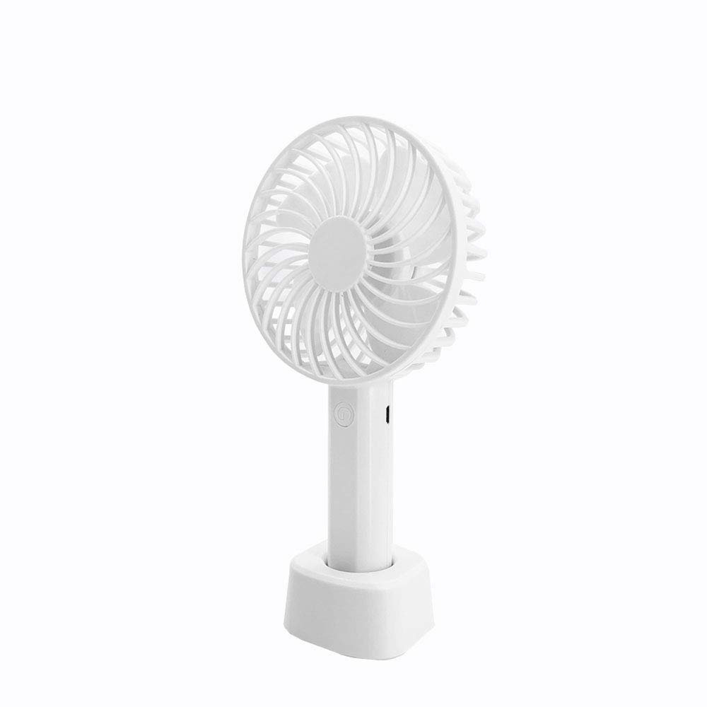 DHMHJH Portable Mini Cooling Fan Rechargeable USB Handheld Mini Fan Office Student Dormitory 3 Colors Optional