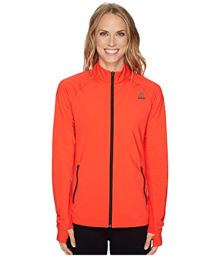 (Reebok Speedwick Track Jacket, X-Small, Glow Red)