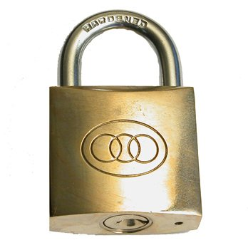 DELUXE MAGIC ESP LOCK / MENTAL MAGIC / CORRECT KEY [BRASS PADLOCK] (Magic Lock)