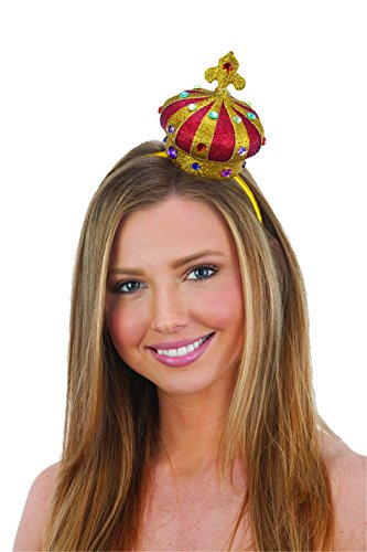 (Jacobson Hat Company Women's Mini Crown Headband, Red,)