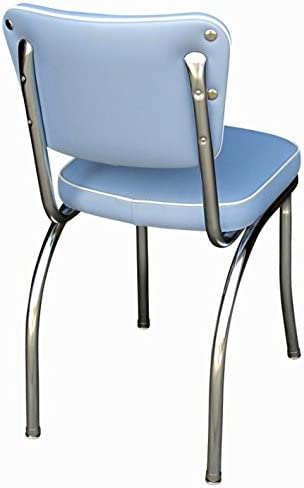 Richardson Seating Retro 1950 S Diner Chair with 2 Box Seat, Bristol Blue