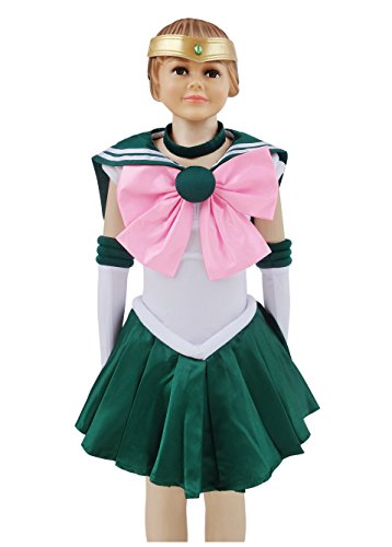 [Make Up! Dazcos Child Sailor Moon Kino Makoto Jupiter Kids Cosplay Costume (Child L)] (Sailor Costume Makeup)