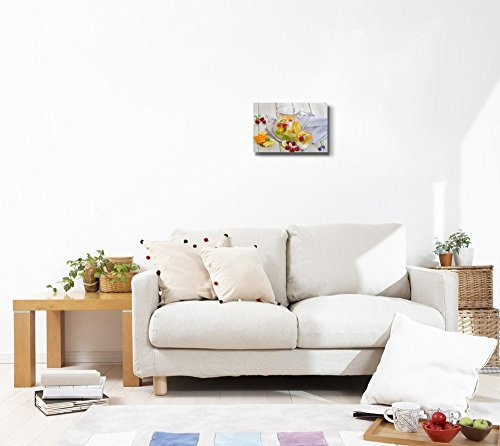 Still Life Fruit Drink with Fresh Berries and Mint Leaves Wall Decor