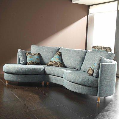 Sophia Fabric Modular Corner Sofa (Large Curved 4str Sofa ...