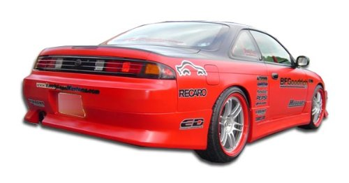 1995-1998 Nissan 240SX Duraflex V-Speed Rear Bumper Cover - 1 (240sx V-speed Rear Bumper)