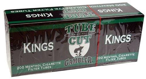 Gambler Tube Cut Menthol King Size RYO Cigarette Tubes 200ct Box (5 (Gambler Cigarette)