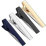 Selizo 4 Pcs Tie Bar Clips Set Tie Tack Pins for Regular Men
