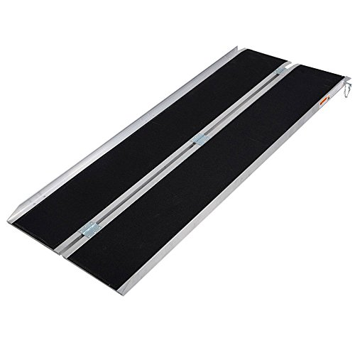 6' ft Aluminum Folding Wheelchair Mobility Ramp Portable Non-Slip from Unknown
