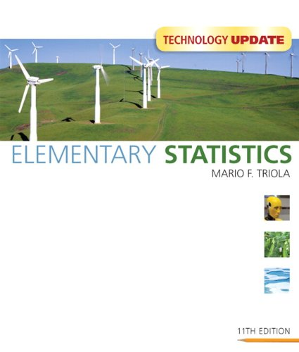 Elementary Statistics Technology Update (11th Edition), by Mario F. Triola