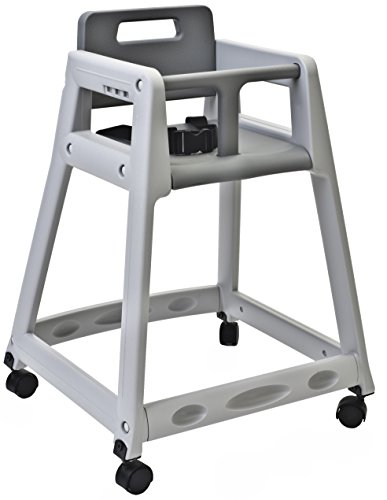 Koala Kare KB850-01W Diner Plastic High Chair with Caster Wheels, Grey, 23