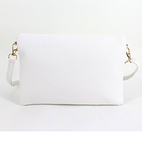 Wristlet Shoulder Womens Meliya Crossbody Foldover Girls Pu Bags Bag Leather Handbag Tassel White1 Envelope 1afnfrW