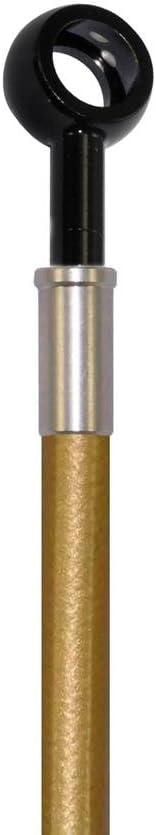 Pro Braking PBK2064-GLD-BLA Front//Rear Braided Brake Line Gold Hose /& Stainless Black Banjos