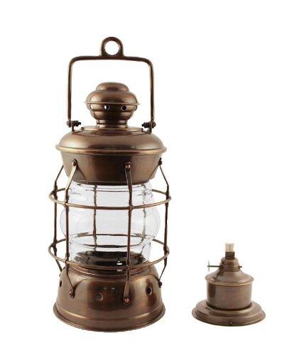 Vermont Lanterns Brass Nelson - Nautical Oil Lamp (13.5'', Antique Brass)
