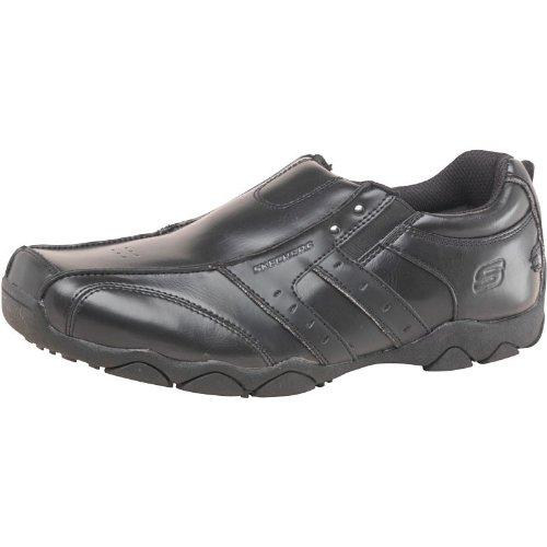 Skechers - Mocasines para niño negro negro N/A, color negro, talla 1 UK 1 Junior Euro 33.5 US 2: Amazon.es: Zapatos y complementos