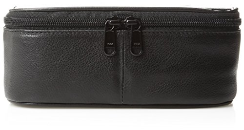 Dopp Men's Travel Express Mini Top Zip Travek Kit-Leather, Black ()