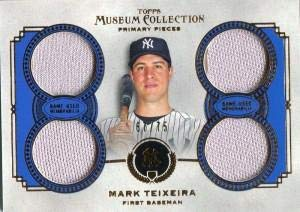 (Mark Teixeira Unsigned 2013 Topps Museum Collection Jersey Card - Baseball Game Used Cards)