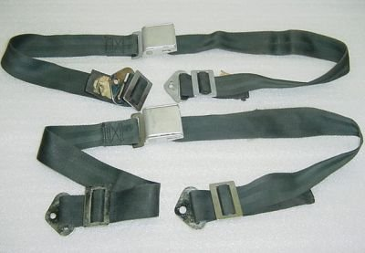 - 9600-16, 501310-401, Set of Cessna Aircraft Seat Belts, Black