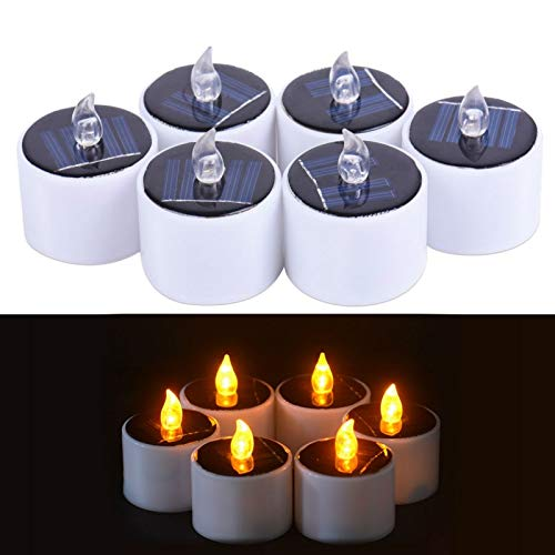 Wall of Dragon LED Nightlight Solar Energy Candle6 Pieces/Lot New Type Yellow Flicker Solar Power LED Light Candles Flameless Electronic