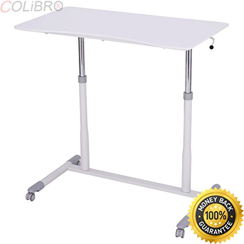 COLIBROX--Height Adjustable Computer Desk Sit to Stand Rolling Notebook Table Portable New. adjustable desktop. best adjustable height stand up desk. portable Notebook Table amazon. by COLIBROX