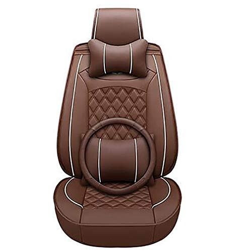 PU leather seat covers for 98% of seats, brown: