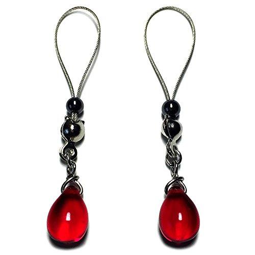 Nipple Jewelry Noose Crystal Drop Red Hematite Adjuster (Intimate Body Jewelry)