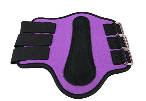 Easy Fit Splint Boots - Southwestern Equine Splint Boots Horse Sizes - Neoprene - Different Colors (Purple, Medium)