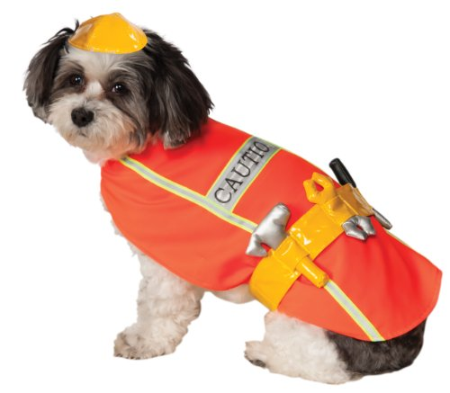 Rubie's Construction Worker Pet Costume, Large ()