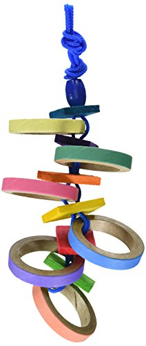 Super Bird Creations Bagel Buster Toy for - Birdy Bagels