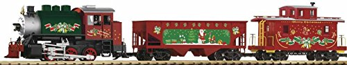 PIKO G SCALE MODEL TRAINS - CHRISTMAS FREIGHT STARTER SET (120V) - 38105 - Christmas Model Trains