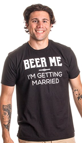 Beer Me, I'm Getting Married | Black Groom Bachelor Party T-shirt - (Black, L)