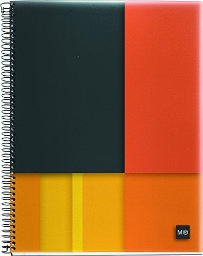 "Miquelrius Medium 4-Subject Spiral Bound Notebook, Scope (6.5"" x 8"", College Ruled, ) (orange)"